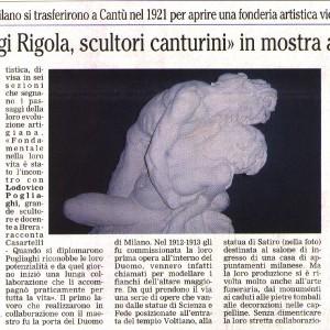 2008 01 Novembre il Giornale di Cantu Mostra Rigola Scultori