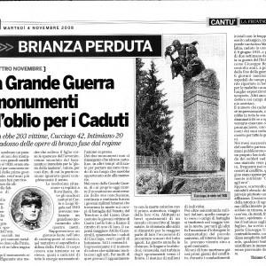 2008 04 Novembre la Provincia Monumento ai Caduti