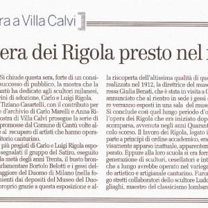 2009 06 Gennaio la Provincia di Como Rigola Scultori Museo del Duomo