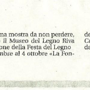 2015 19 Settembre Mostra Rigola Presso Riva 1920 Festa del Legno