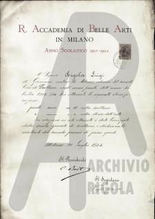 Diploma Rigola Luigi