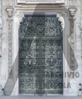 Milano Duomo porta centrale Pogliaghi modellazione Rigola