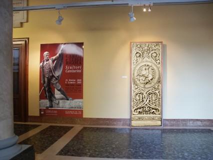 4 Villa Calvi Mostra Scultori Rigola Gesso Cancello Bronzeo san Giorgio