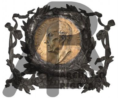 Alessandro Volta Bronzo Fonderia Rigola