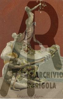 Esposizione Universale 1906 Milano Rigola Gruppo Scultoreo Ceramiche Faentine Cartolina