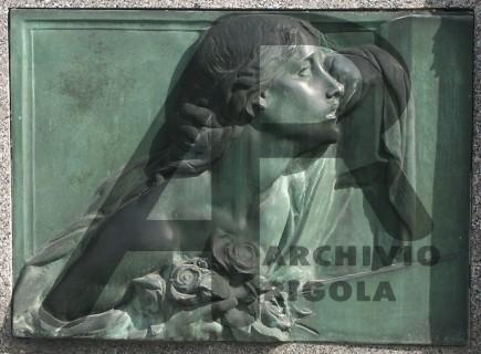 Rigola Scultori Monumenti Funerari Bronzo Bassorilievo