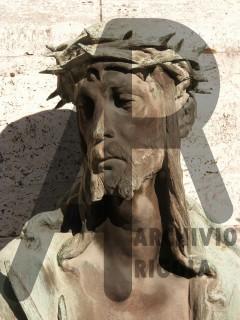 Rigola Scultori Monumenti Funerari Bronzo Cristo Viso