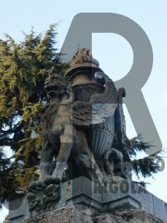 Seregno Cimitero Grifoni Bronzo Rigola 2