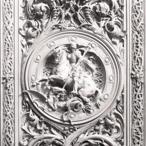 San Giorgio e il drago, porta bronzea
